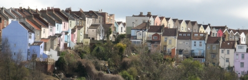 Totterdown houses from Albert Road railway bridge