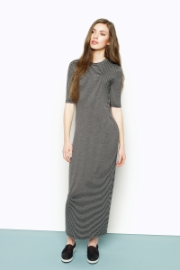 Monki stripe maxi dress