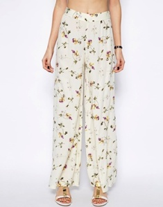ASOS Petite floral summer trousers