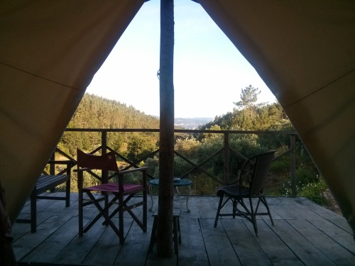 Trapper's Tent, Portugal, view from bed