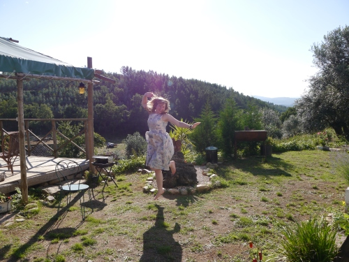 Jumping for joy, Trapper's Tent